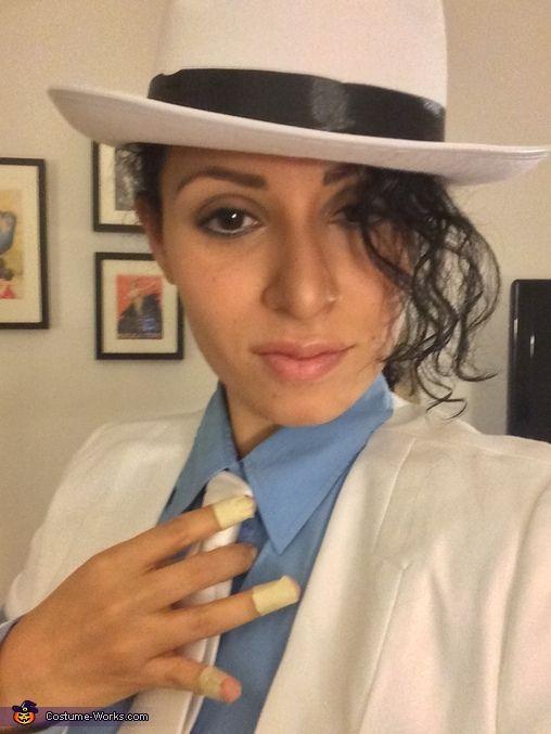 Michael Jackson Smooth Criminal White Suit Uniform Men/'s Cosplay Concert Cos