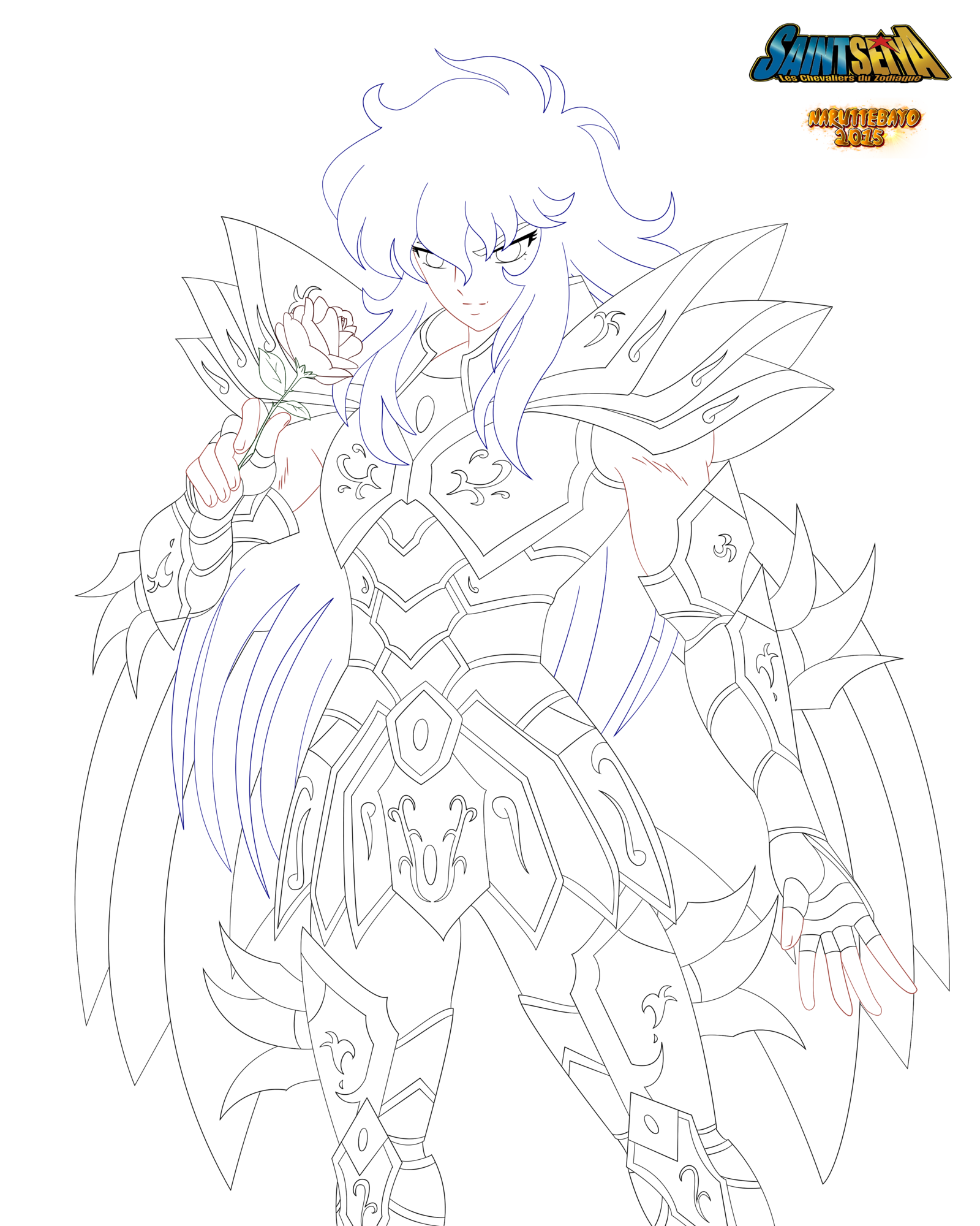 [lineart] God Cloth Poisson Mars 2015 by Naruttebayo67