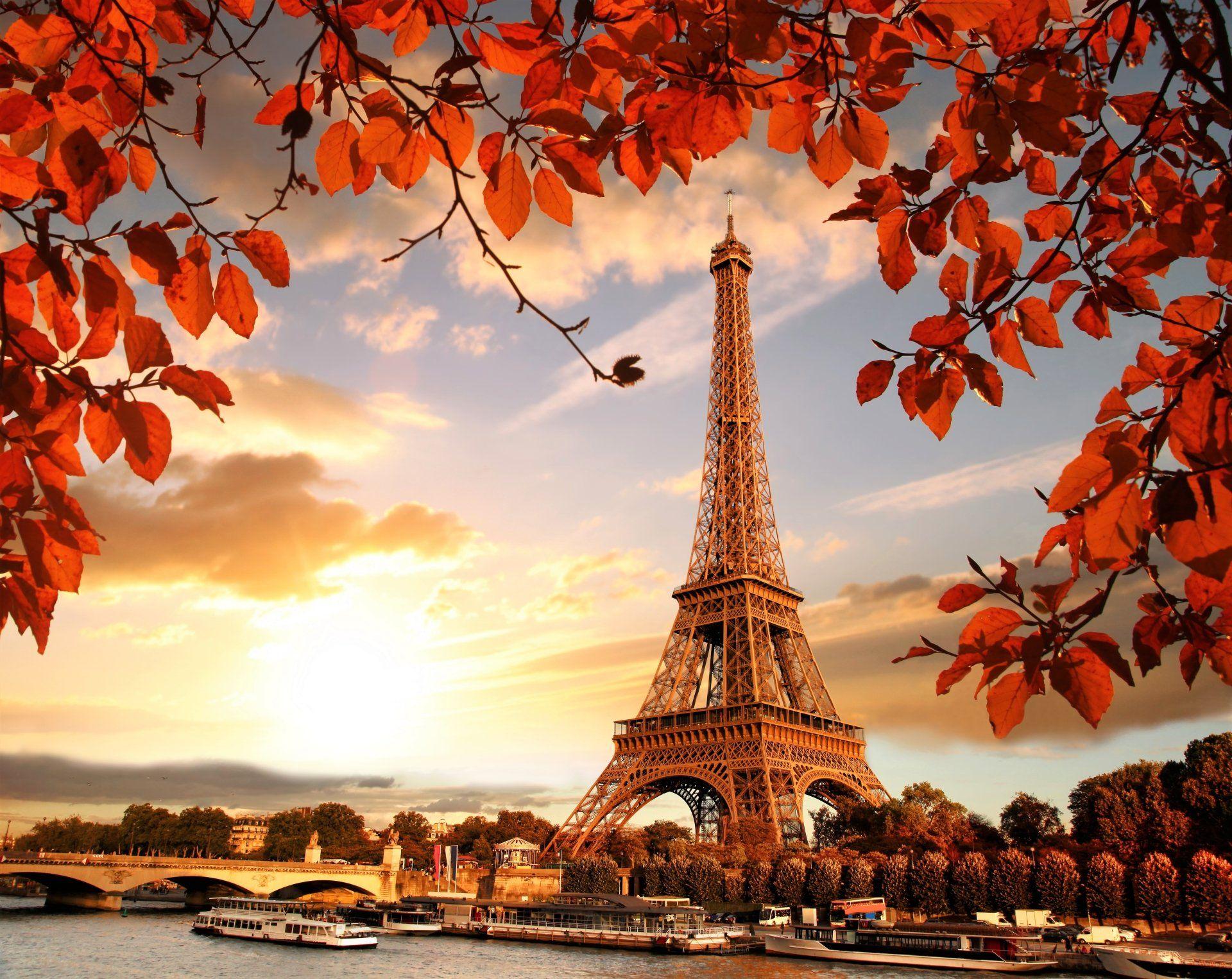Man Made Eiffel Tower France Paris Fall Monument Wallpaper