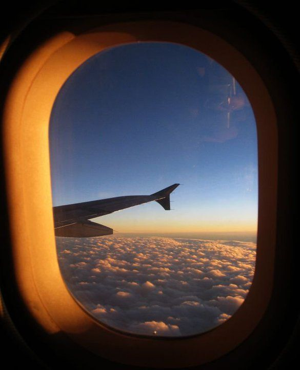 airplane, artsy, blue, clouds, fly, horizon, photography ...