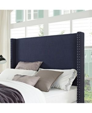 Casey Wingback Upholstered King And Cal King Headboard Blue Stanze Da Letto Matrimoniali Letto Matrimoniale Stanza Da Letto