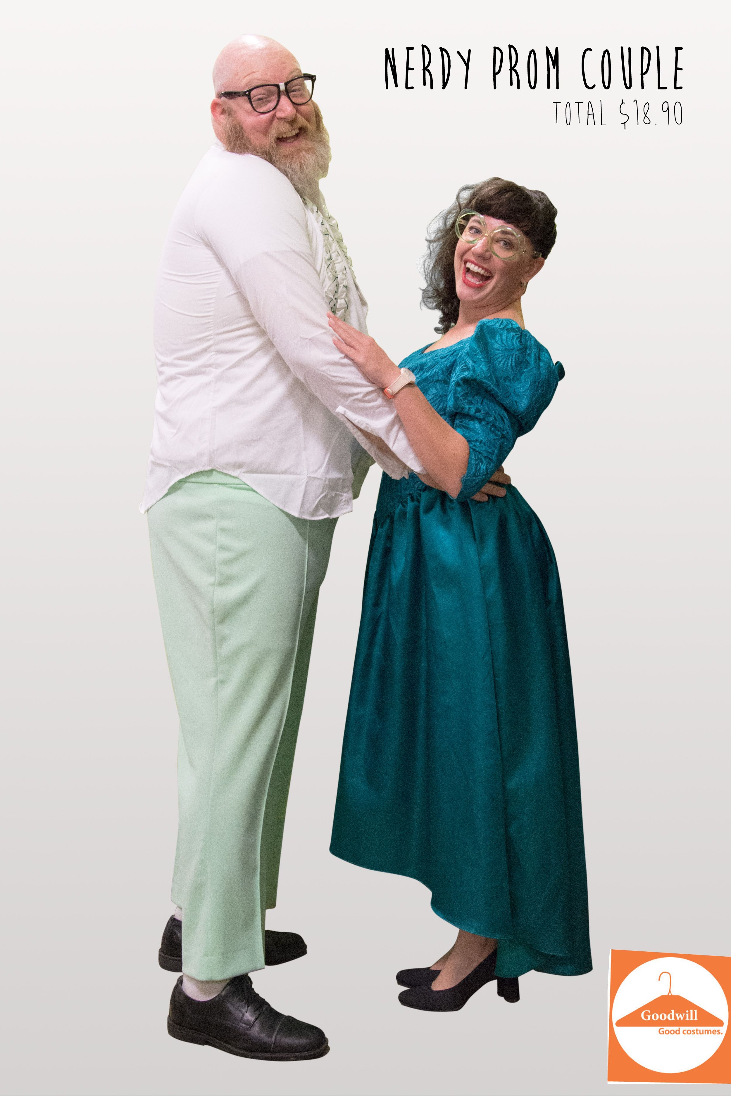 DIY Nerdy Prom Couple from Goodwill finds | DIY Halloween Costume ...