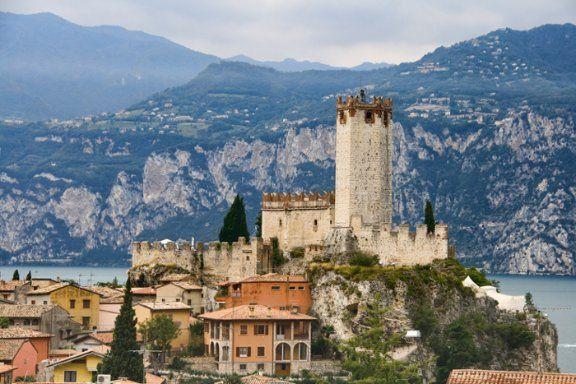 Medieval Scaligero Castle by Lake Garda