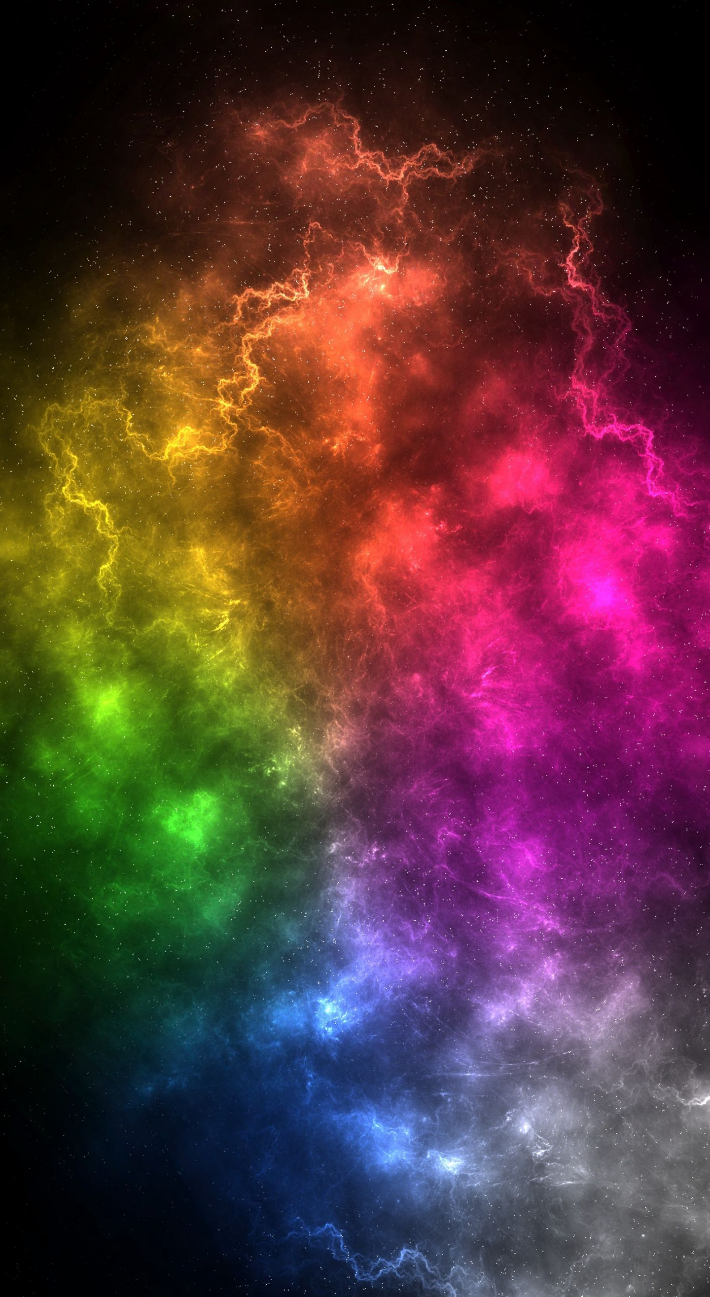 1440x2630 Nebula Colorful Energy Clouds Cosmos Clouds