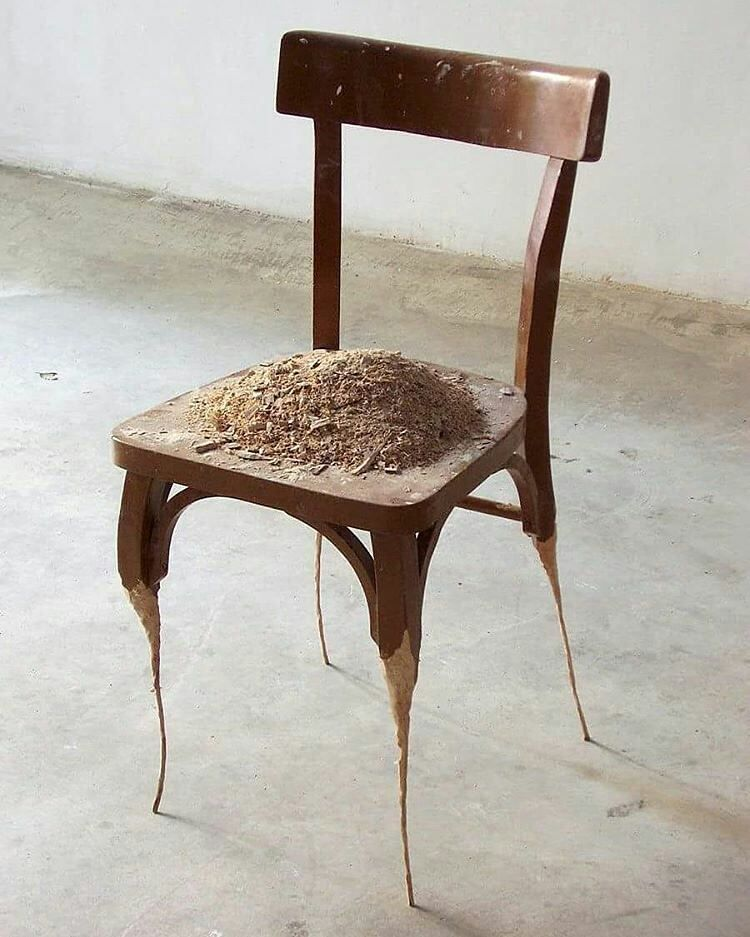 Chair Contemporary Art Sedia Arte Arte Contemporanea Art Chair Contemporary Sculpture Everyday Objects