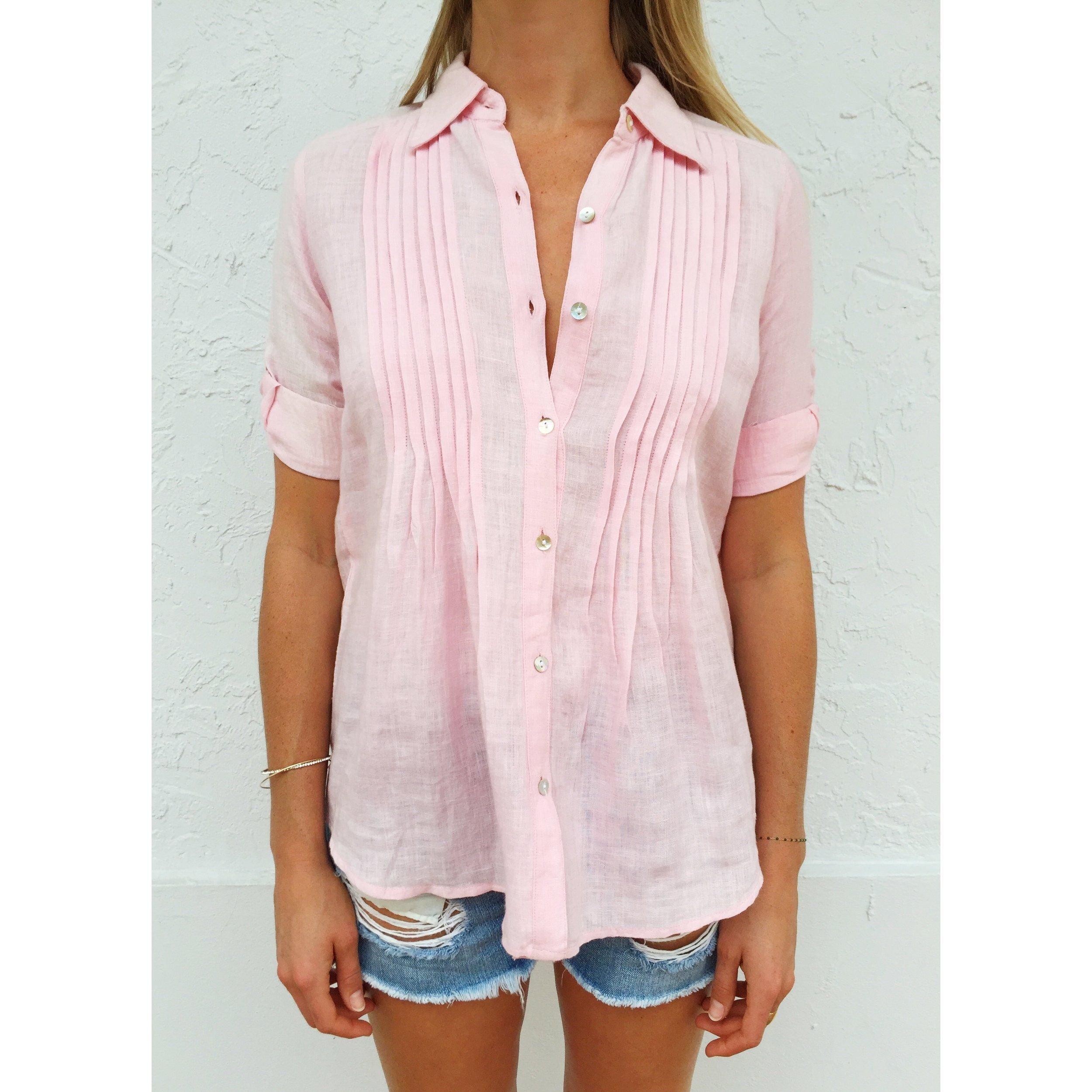 harbour shirt, pink by cj laing