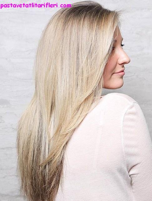 lange gerade Frisur Trends  Lange Frisuren