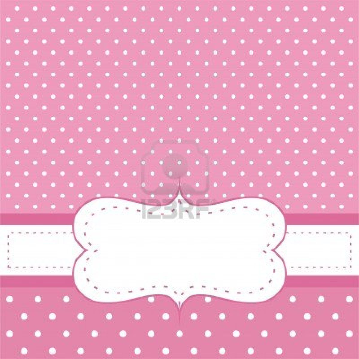 Sweet Pink Polka Dots Card Or Invitation Cute Background With White Space To Put Your Own Text Message Cocktail Party Birthday Baby Shower Wedding