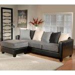 $826.00  Chelsea Home Furniture - San Marino Ebony/Jumbo Graphite Sofa & Ottoman - 7803