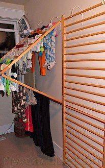 Diy Wall Mounted Clothes Drying Rack Moveis Para