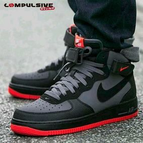 finest selection 002ab 064a2 Tenis Zapatillas Nike Force One Black Red Bota