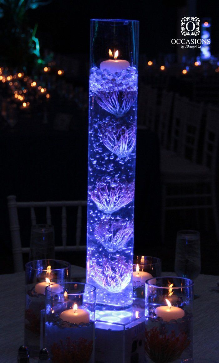 Underwater Themed Centerpiece Occasions By Shangri La Wedding