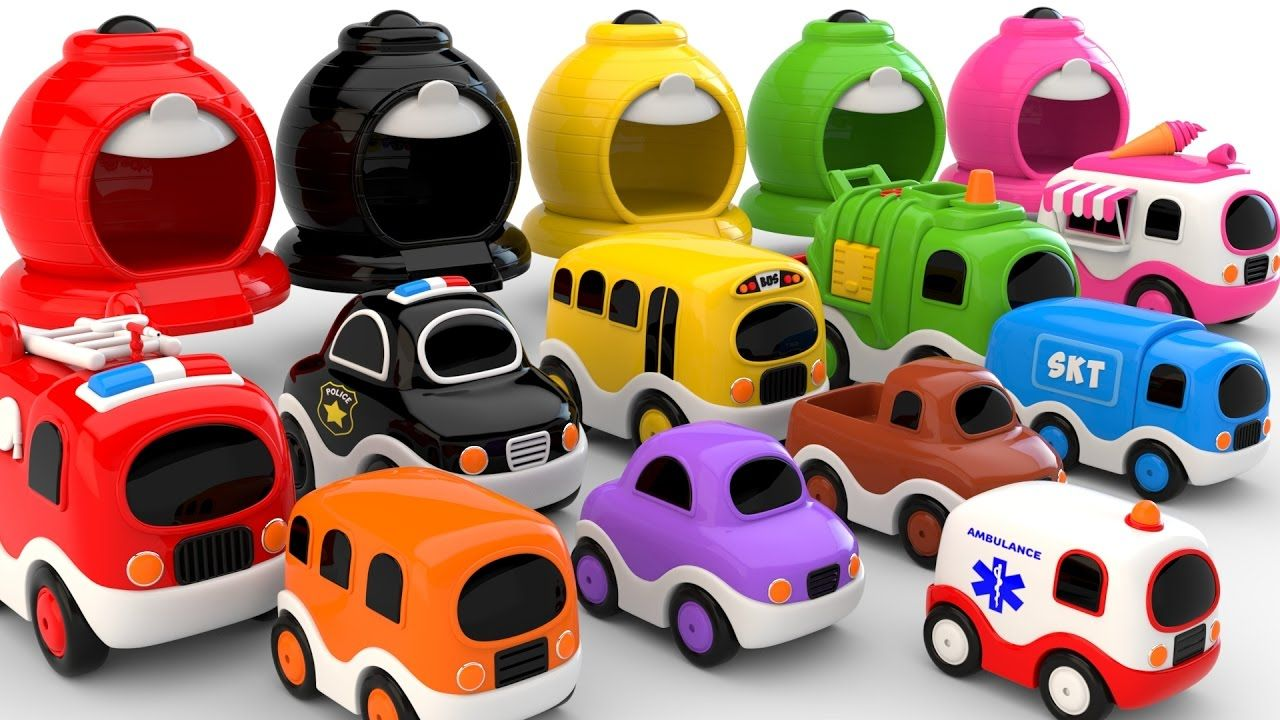 Colors For Children To Learn With Street Vehicles Colours And