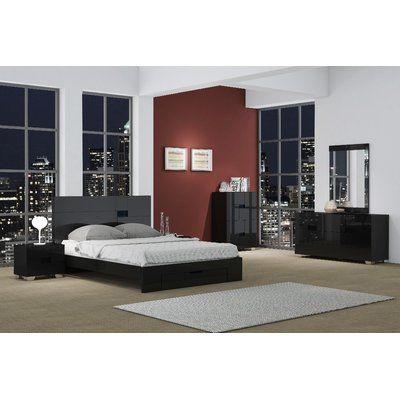 Orren Ellis Jayda Platform 4 Piece Bedroom Set in 2018 Products