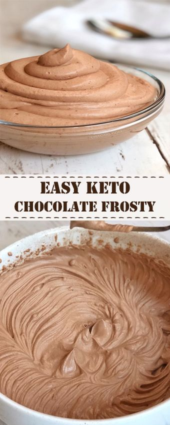 Easy Keto Chocolate Frosty #keto #lowcarb #chocolatefrosty