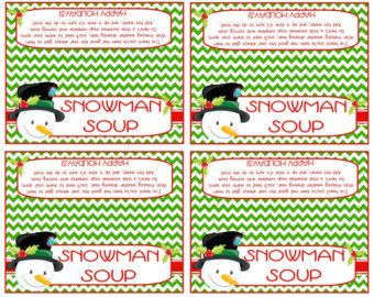 picture about Snowman Soup Printable Tag referred to as Snowman Soup Deal with Bag Topper ( Satisfies 4x6\