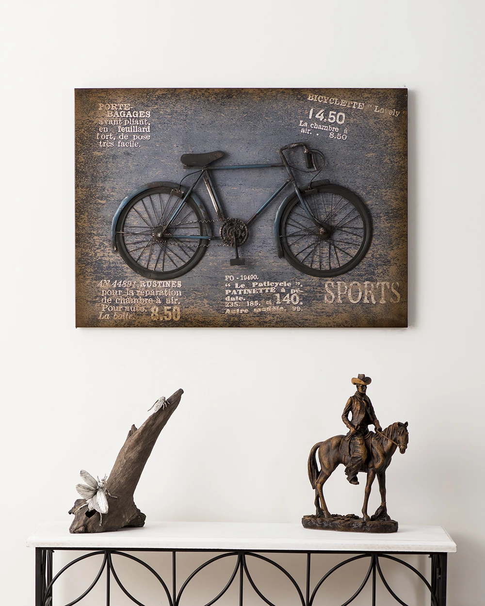 Wrought Iron Bike Plant Stand Wrought Iron Cute Bicycle Decor Metal Wall Art Decor Wrought Iron