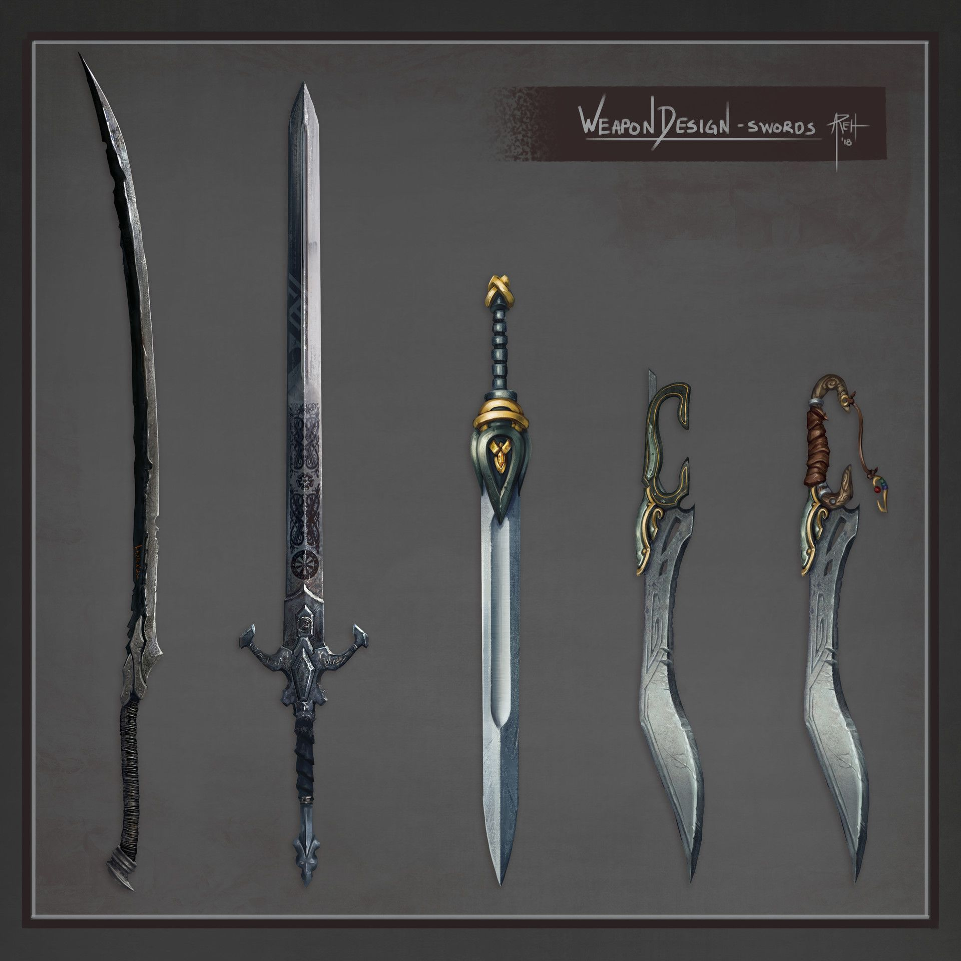 Medieval Weapons Concept Art