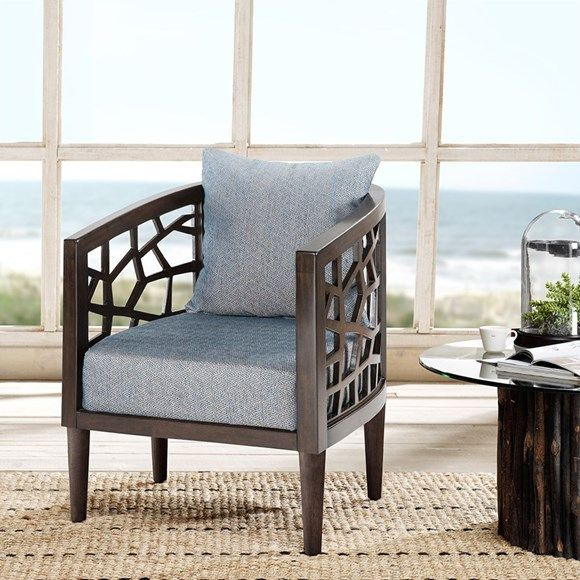 INK IVY Crackle Lounge Chair