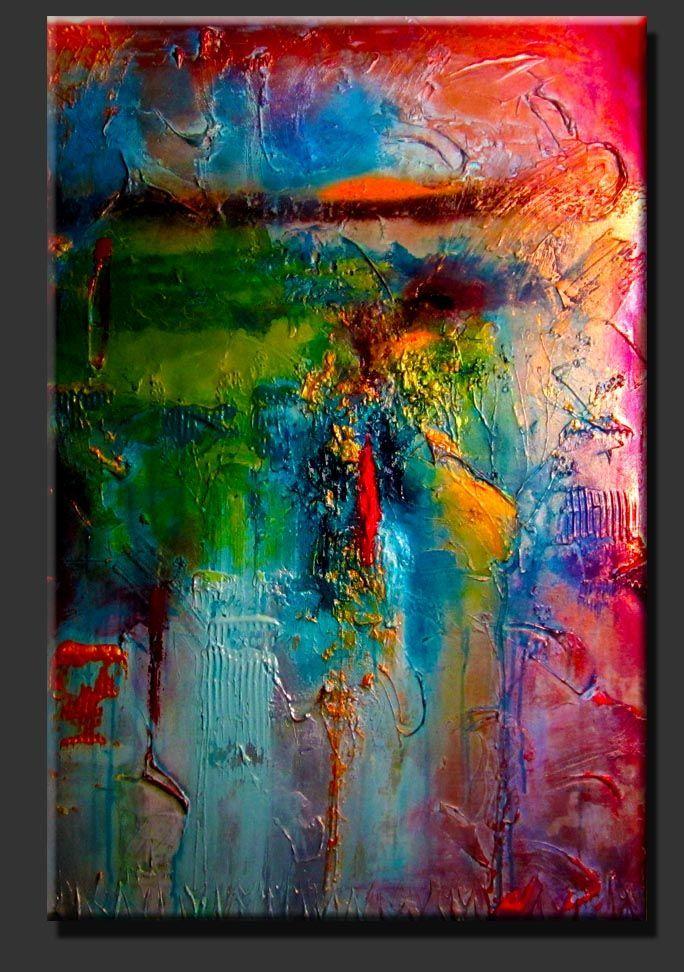 abstract paintings contemporary art contemoporary modern just imagine by abstrakt abstrakte malerei acrylmalerei bilder rot kunst meer