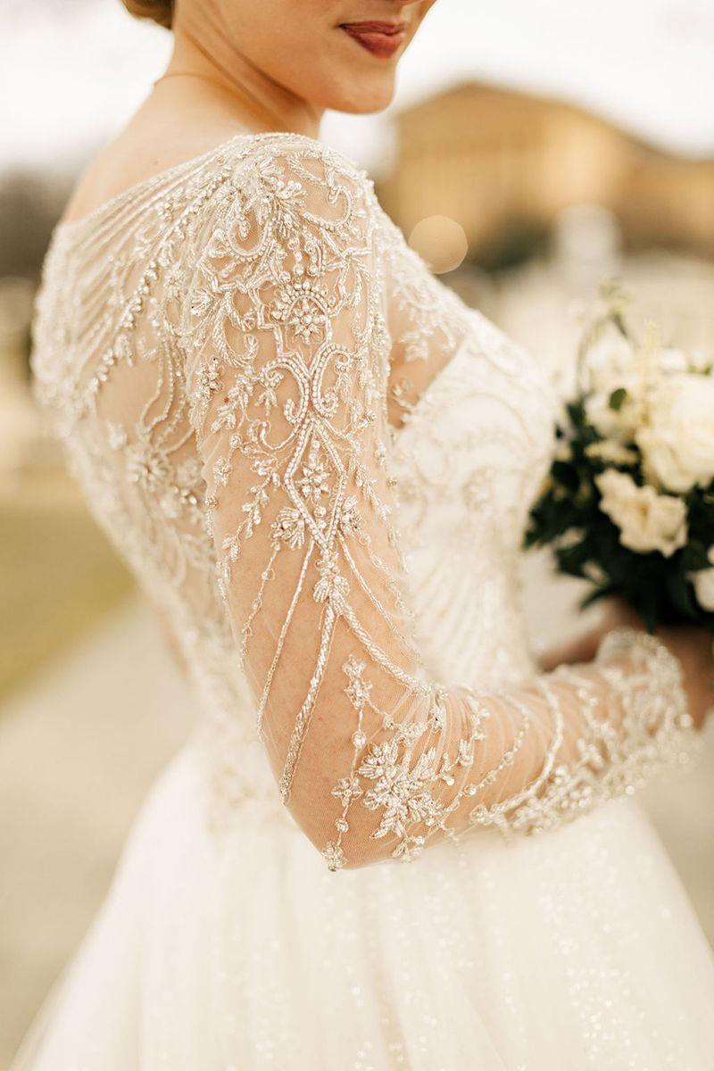 Sparkling Ballgown Wedding Dress With Long Sleeves By Casablanca Bridal Real Bride Kelly Matt Ball Gowns Wedding Wedding Dress Long Sleeve Wedding Dresses [ 1200 x 800 Pixel ]