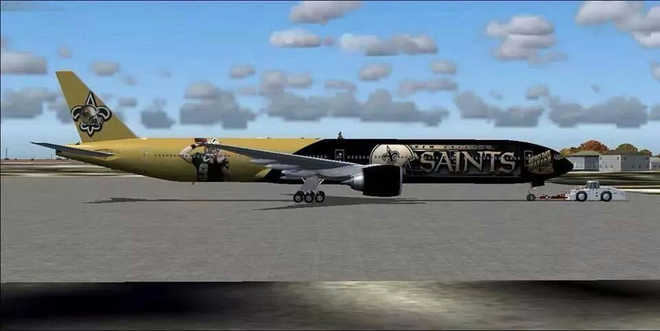 New Orleans Saints Airplane