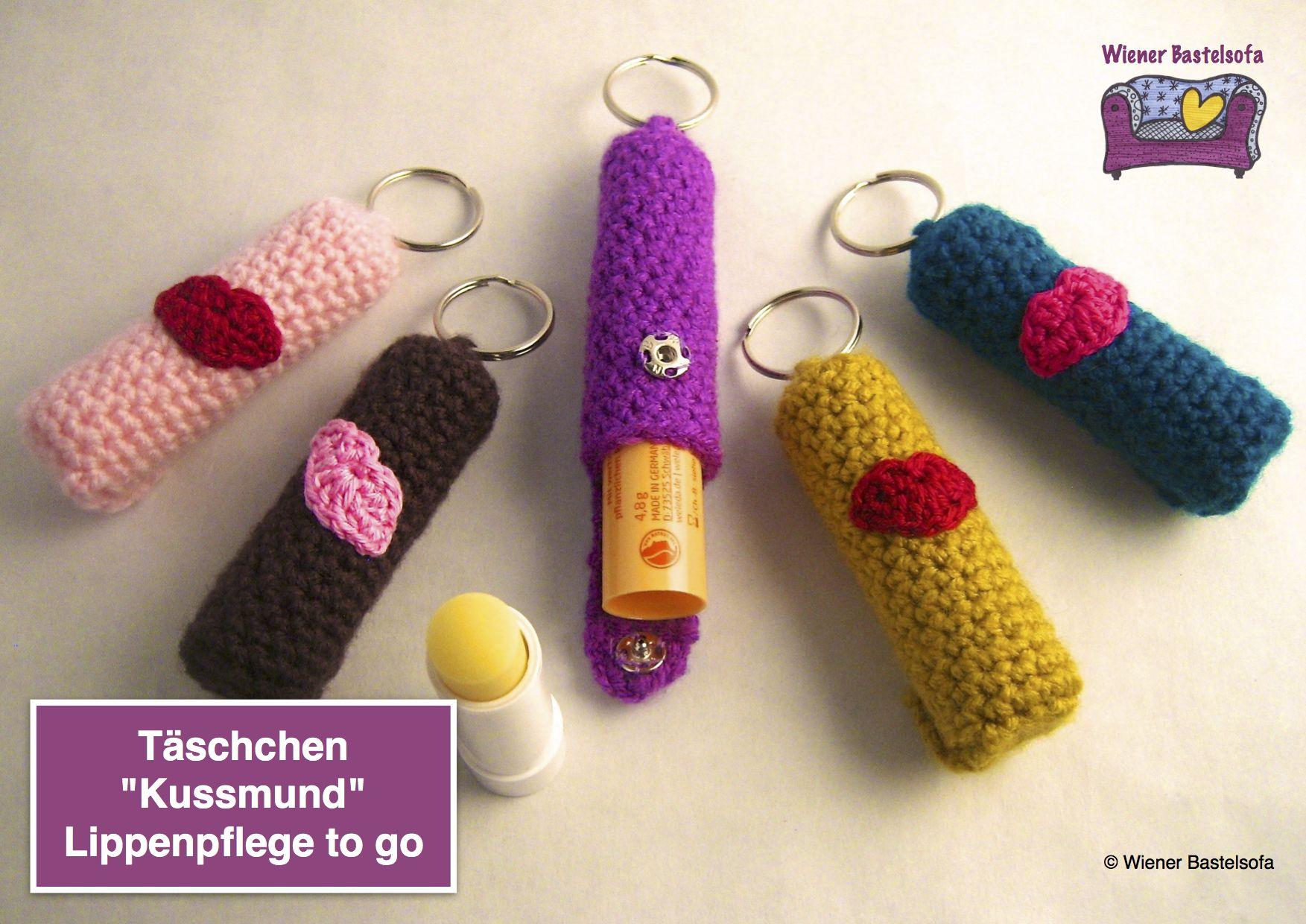 Anleitung Täschchen Kussmund Für Lippenpflege Schlüsselanhänger