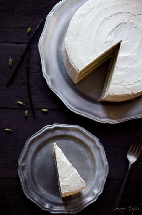 Cardamom Vanilla Bean Layer Cake - Savory Simple
