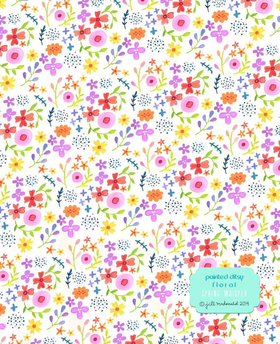2015 Ditsy Floral Design: Painted Ditsy Floral By Jill Mcdonald