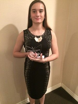 """Rebecca Reynolds is honored as """"Girls of Merit"""" recipient"""
