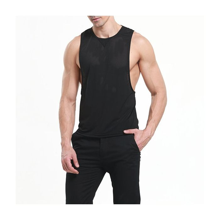 998b262485e2 US  15.76 - Mens Summer Mesh Breathable Fitness Running Workout Tank Tops