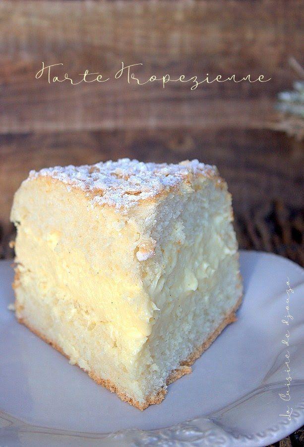 Tarte tropézienne recette facile (crème mousseline allégée)