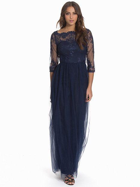 Saskia Dress - Chi Chi London - Navy - Festklänningar - Kläder - Kvinna - Nelly.com