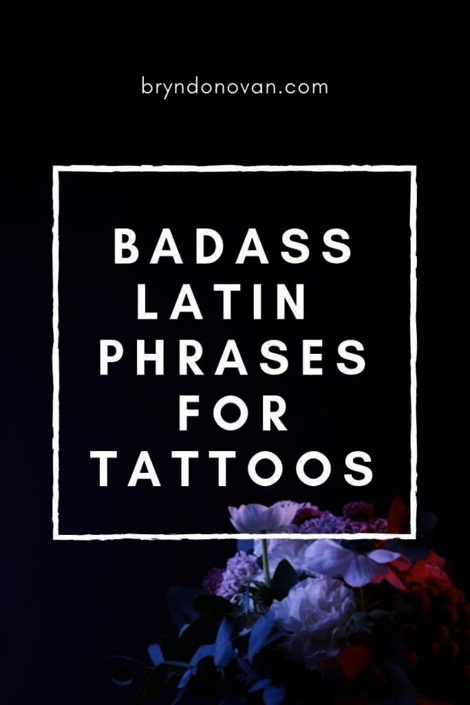 Phrases For Tattoos quotes mottos -  Badass Latin Phrases For Tattoos quotes mottos  -Badass Latin