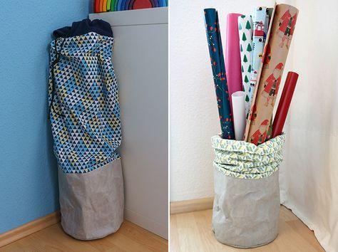 diy anleitung geschenkpapier aufbewahrung tutorial nach kater paule. Black Bedroom Furniture Sets. Home Design Ideas