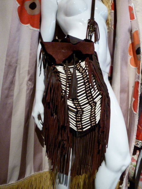 American Indian Bag Chocolate Doe Skin door ZwiggyAustinVintage, $280.00
