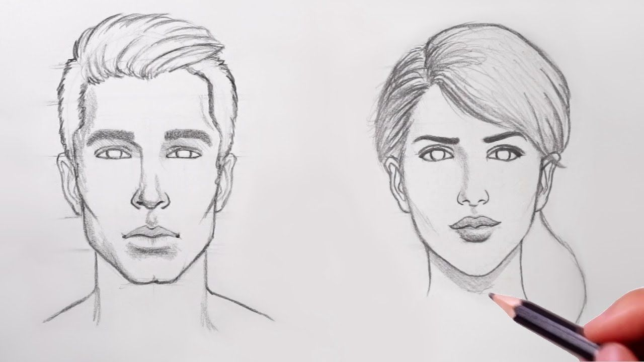 How To Draw Faces For Beginners Youtube Realistic Drawings Human Face Drawing Lips Drawing