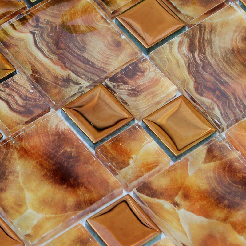 Glass tile sheets electroplated patterns mosaic wallpaper ice