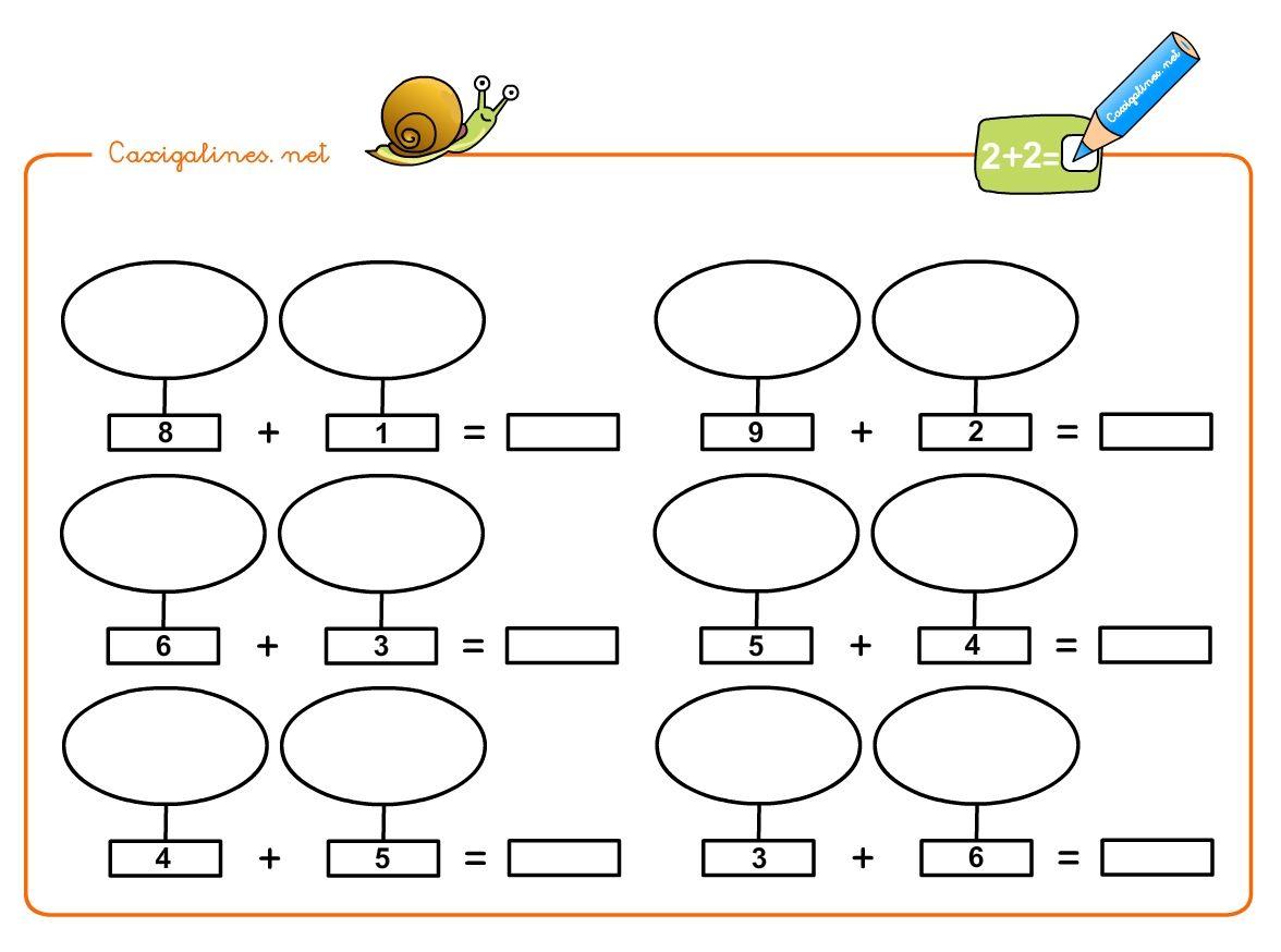 Sumas De Numeros Dibujando Objetos Para Ninos Manolo El Caracol Suma Numeros Para Ninos Evaluaciones Para Preescolar Actividades De Matematicas Preescolares