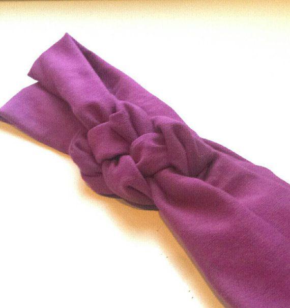 Hey, I found this really awesome Etsy listing at https://www.etsy.com/uk/listing/268242498/purple-knot-headband-knot-headband