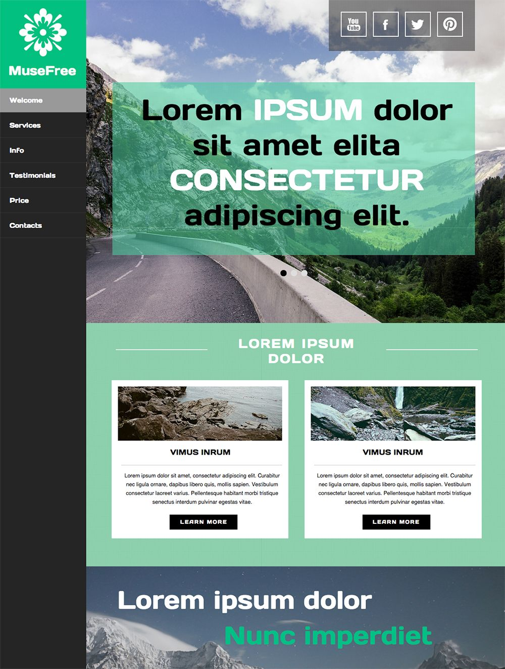 Im Excited To Publish New Adobe Muse Free Template Absolute Clean