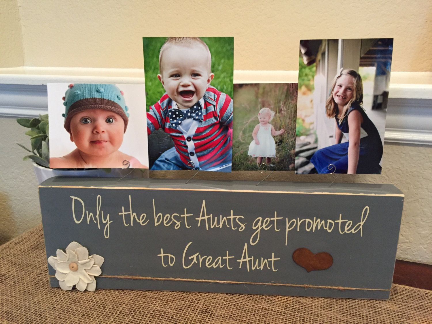Gift for Aunt The Best Sisters Get Promoted To Aunt Personalized Picture Frame Aunt Gift from Kids Aunt Picture Frame Auntie Gift