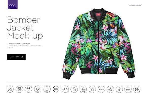 Bomber Jacket Mock Up By Mesmeriseme Pro On Creativemarket
