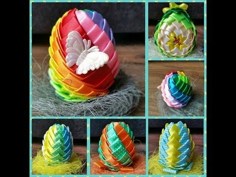 Katerina Sztuka By Pasjonata Art Wiosenne Drzewka Na Wielkanoc 2018 Kanzashi Wielkanoc Easter Craft Decorations Easter Crafts Easter Diy