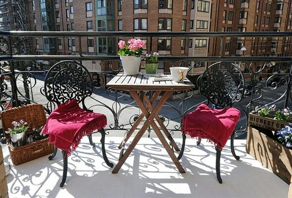 Bonito conjunto de sillas para la terraza. . | Balcon