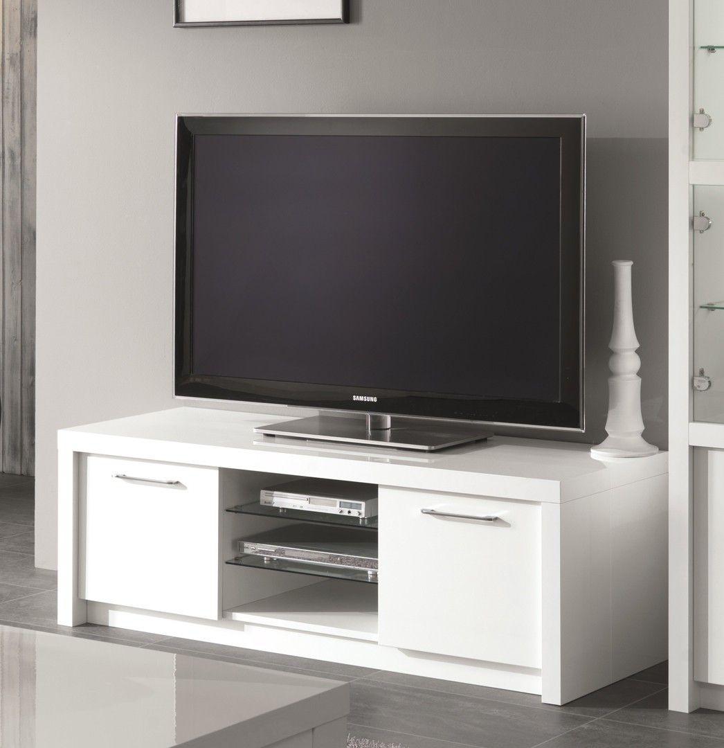 Meuble Tv Design 150 Cm Laqu Blanc Adamo Centros De  # Muebles Saskia Horario