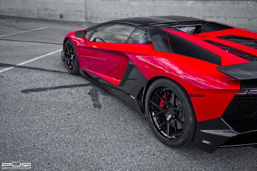 Red and Black Lamborghini
