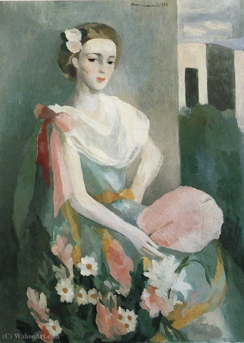 Marie Laurencin Mme Charlie Delmas 1938 Painting Art Artist