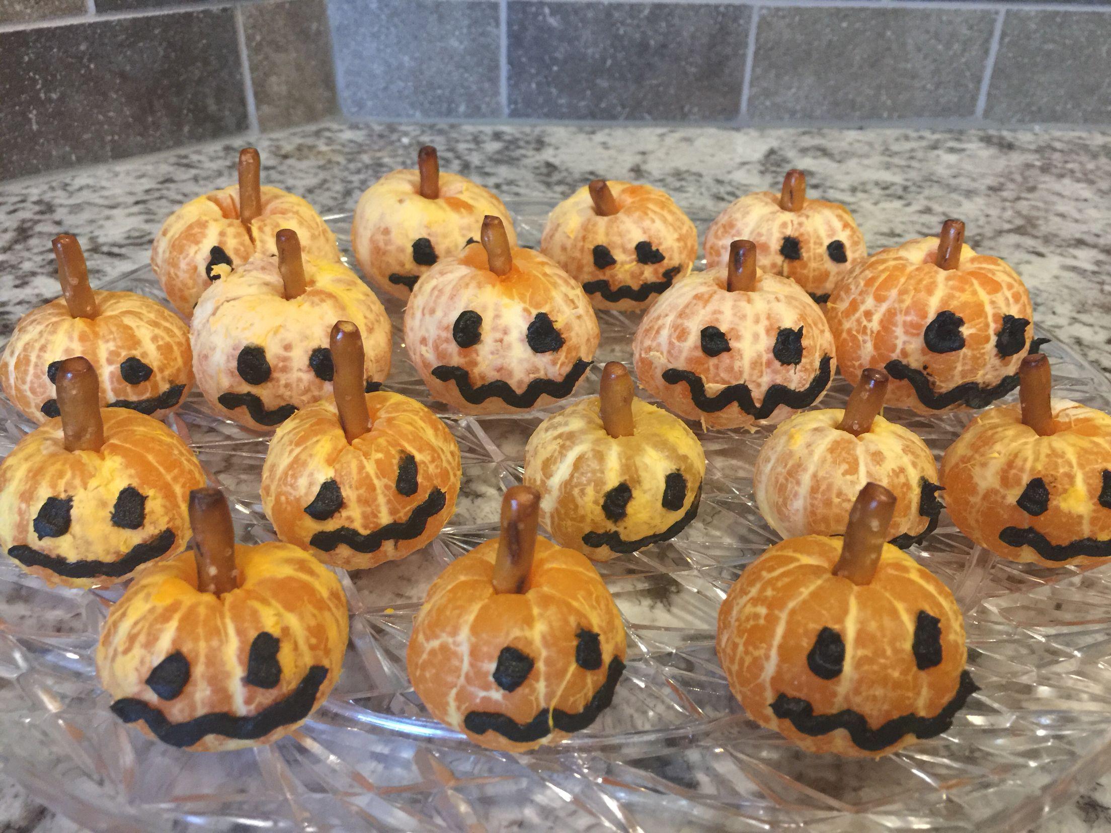 Jack O Lantern Clementines Happy Halloween Pumpkins