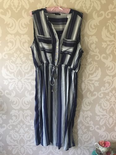 River Island Striped Midi Dress Size 18  https://t.co/r7XJvFAvqS https://t.co/a5zdv0P5xD